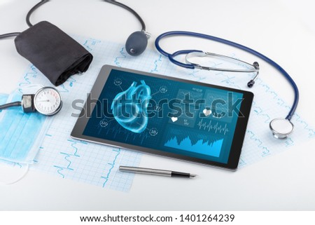 Close up of modern medical diagnostics concept #1401264239