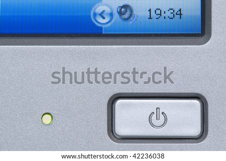 Close-up of monitor switch button