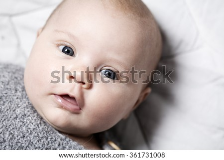 319f51248 Free photos Cute newborn baby girl. Portrait of a cute 3 months baby ...