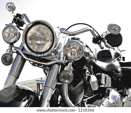 Close-up of motorcycle - Cool Harley
