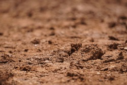 Close up of muddy motocross course