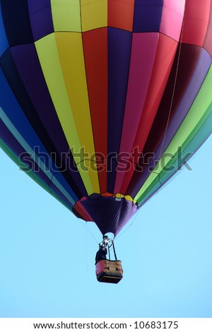 Close-up of multicolor hot air balloon