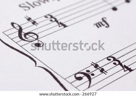 Close-up of music score