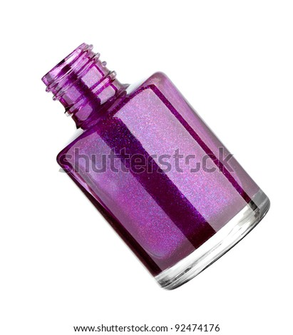 close up of nail polish drop on white background with clipping path