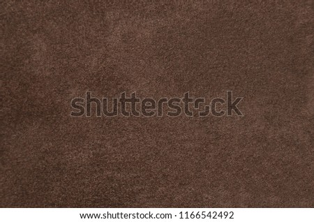 Close up of natural suede leather background #1166542492