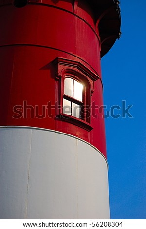 Close-up of Nauset Lighthouse in North Eastham, MA