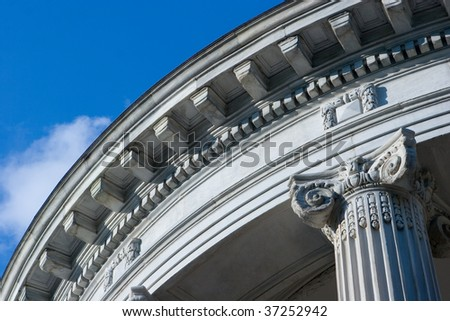 Close up of Neo Classical Style Architecture