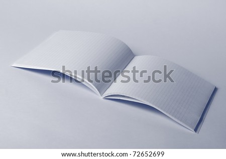 close-up of notebook on the white background
