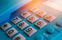 close up of numbers on a telephone