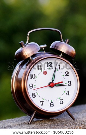 Close up of old alarm clock