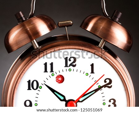 Close up of Old Alarm Clock