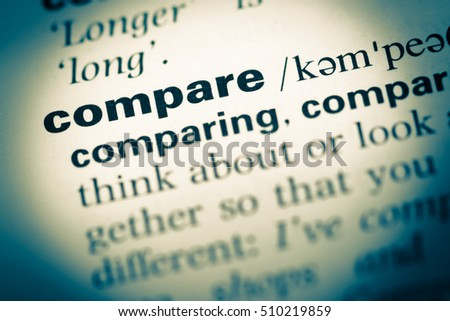 definition of the word compare