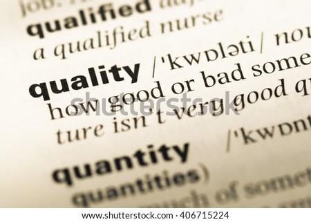 Free Photos Dictionary Definition Of The Word Quality Avopixcom