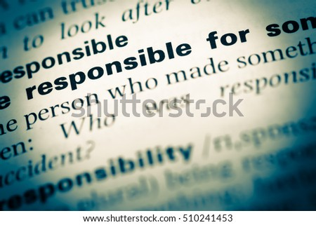 what does the word responsibility mean