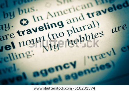 free photos close up of english dictionary page with word travel