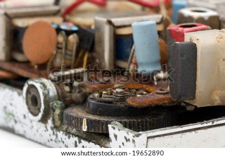 close up of old radio