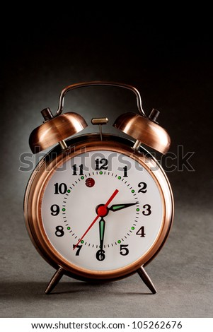 Close up of old style alarm clock