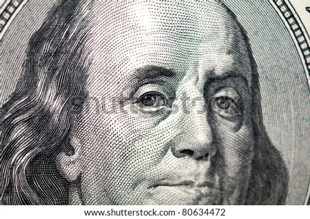 close up of one hundre dollar bill