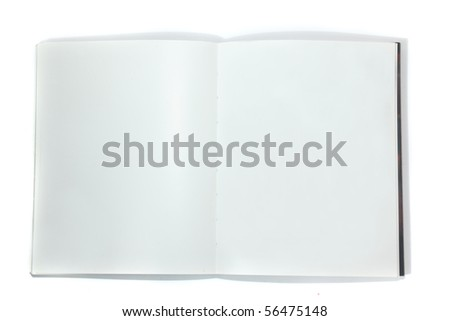 close up of open book isolated