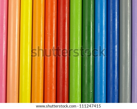 Close up of ordered children's rainbow modeling clay - stock photo