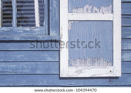 Close-up of paint peeled windows, WI