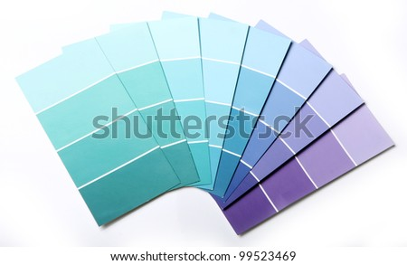 Close up of pantone color palette