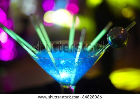 Close up of party drink