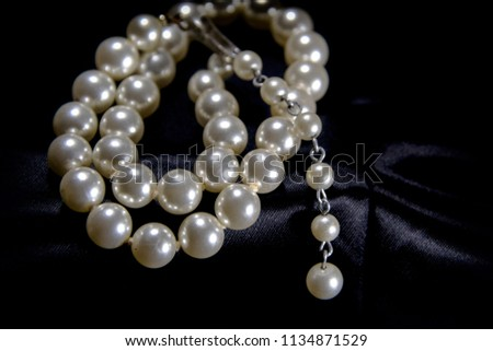 close up of pearls #1134871529