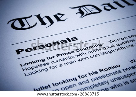 Newspaper, Classified Ad, Advertisement  Images and Stock Photos