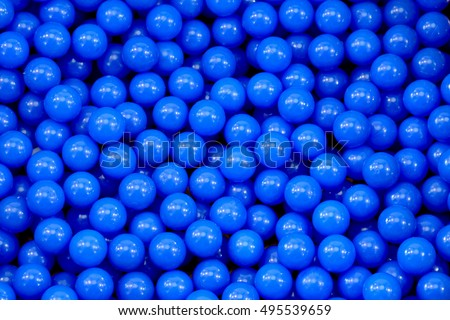 close up of plastic colorful blue ball at the playground
