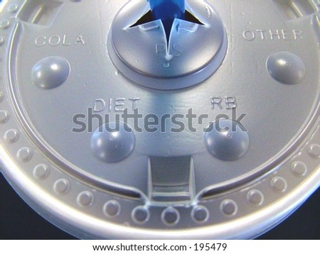 Close up of plastic lid on soft drink
