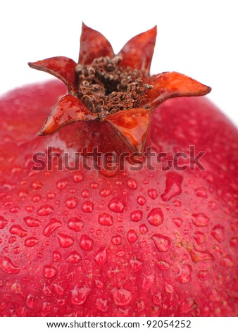 Close up of pomegranate fruit