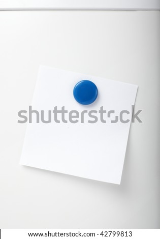 close up of postit reminder on white background refigerator