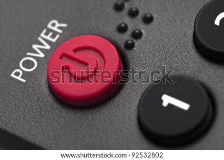 Close-Up Of Power Button
