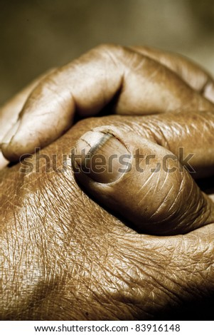 Close up of Praying Hands