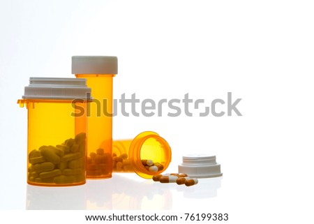 Close up of Prescription Containers and Medication