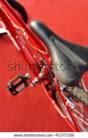 Close-up of professional cycling - stock photo
