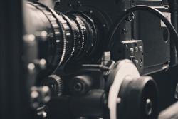 close up of Professional digital video camera