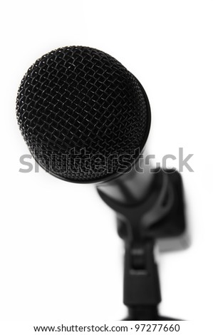 Close up of Professional Microphone (short depth of field)