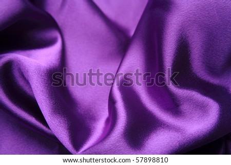 Close-up of purple shiny silk fabric