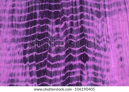 Close up of purple tie dye hippy dress