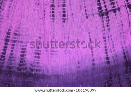 Close up of purple tie dye pattern