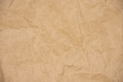 Close up of Recycled brown wrinkle paper texture for background