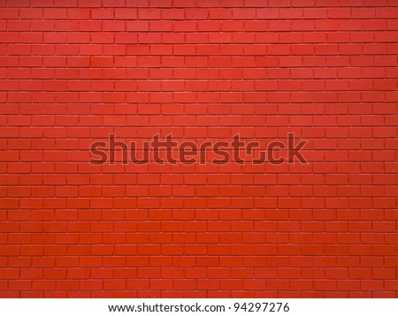 close up of red brick wall background
