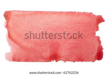 close up of  red color strokes on white background  with clipping path