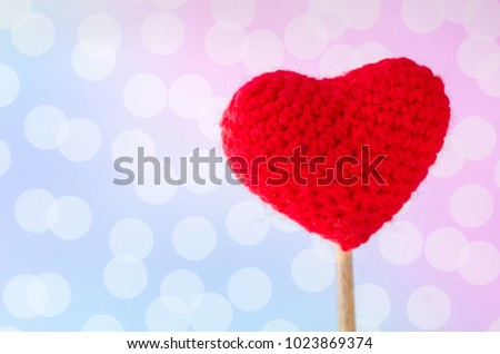 Close up of red heart with bokeh background,this image for valentine's day concept. #1023869374