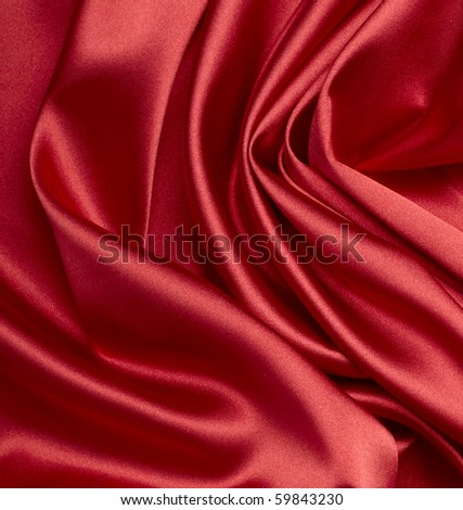 close up of red silk textured cloth background