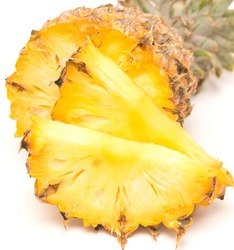 close up of ripe pineapple