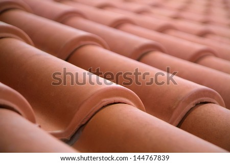 Close-up of roof tiles #144767839