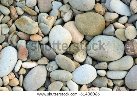 Close up of rounded and polished beach rocks #61408066